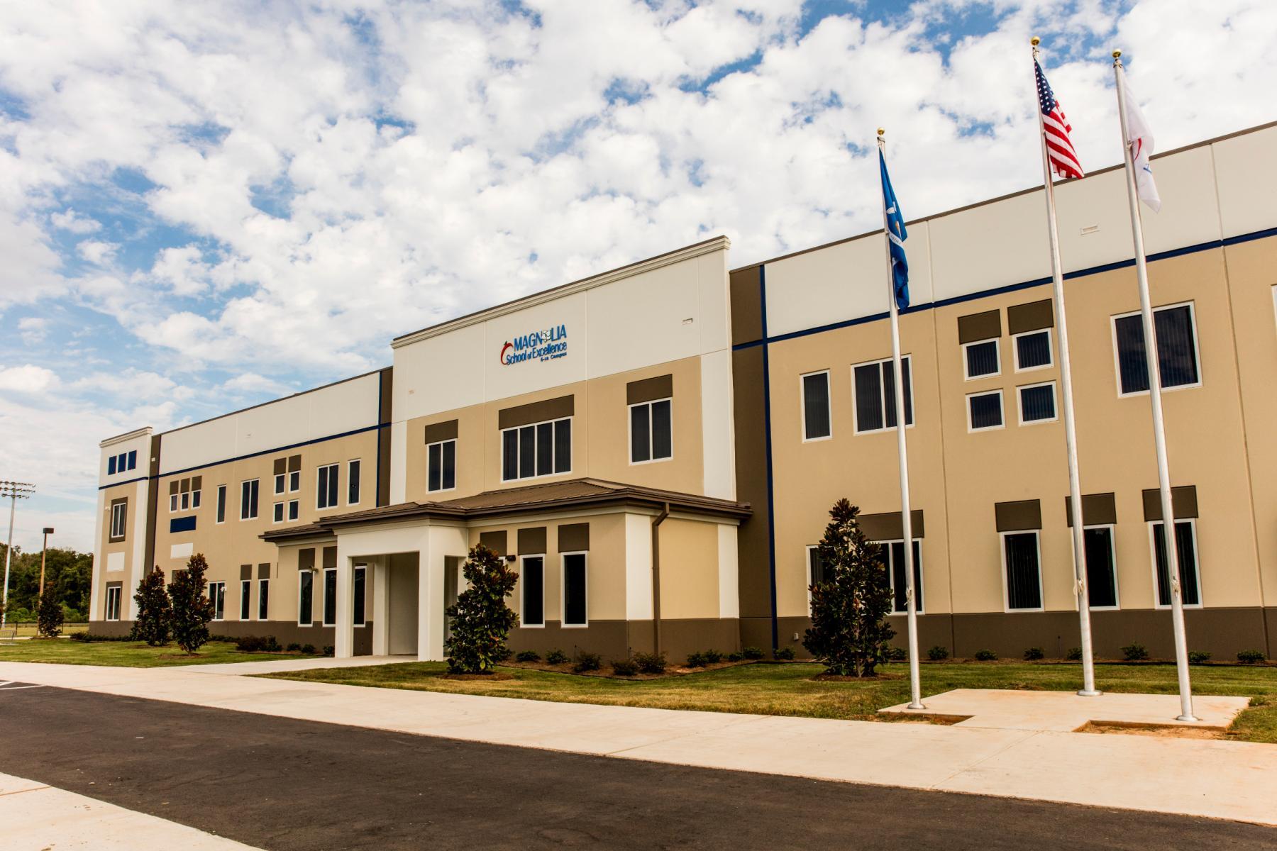 Magnolia school of excellence high school ryan companies for Exterior design school