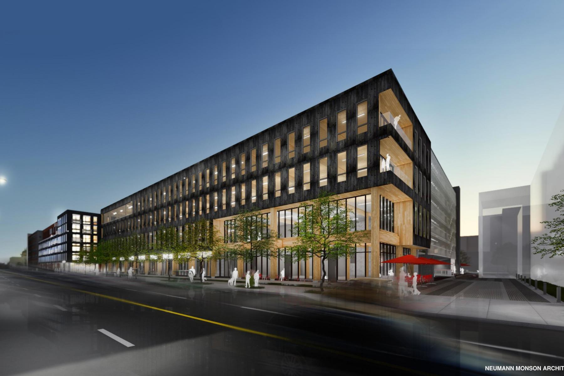 Iowa S First Modern Mass Timber Office Building Construction In