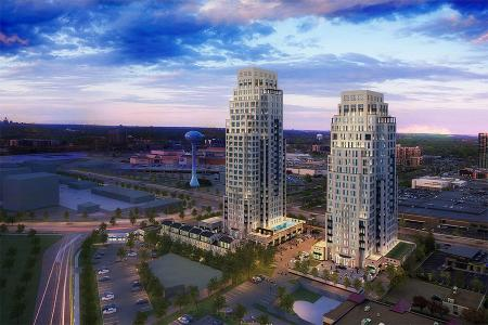 The two condominium towers will be home to over 150 residents.