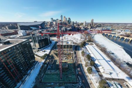 Construction is underway on the 550-foot, 41-story Eleven tower, which will be Minneapolis' tallest residential tower.